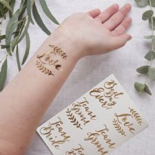 Rose Gold Temporary Tattoos